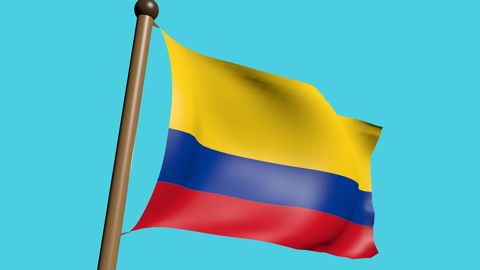 Image result for สีธงประเทศโคลอมเบีย