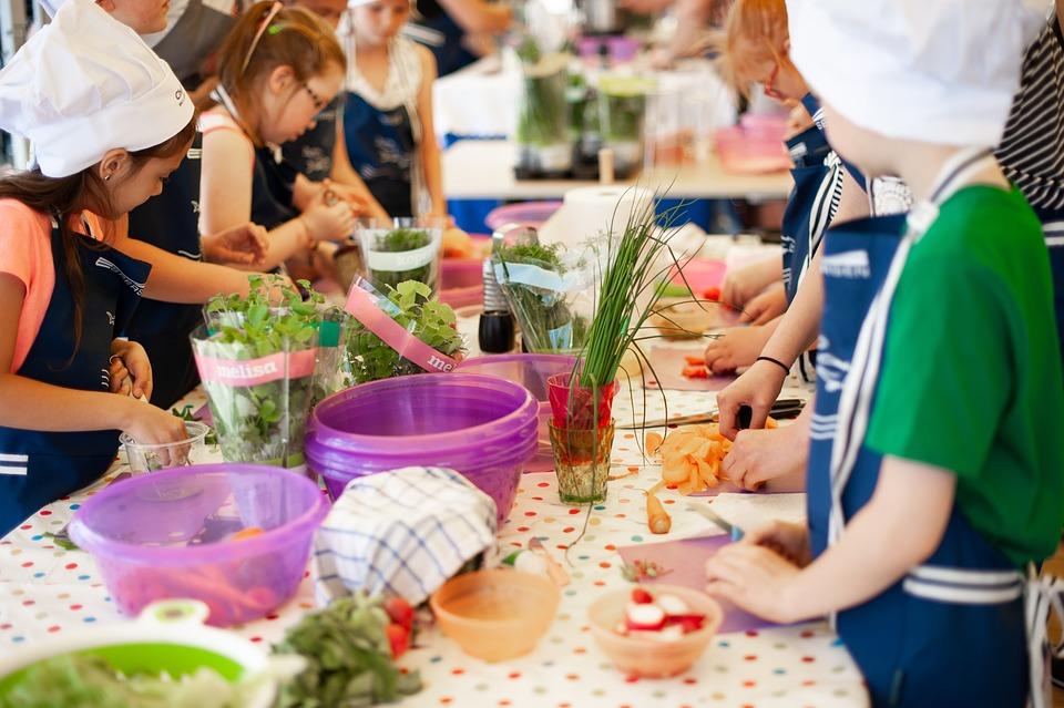Kochen, Lektion, Workshops, Kinder, Werkstatt, Arbeit