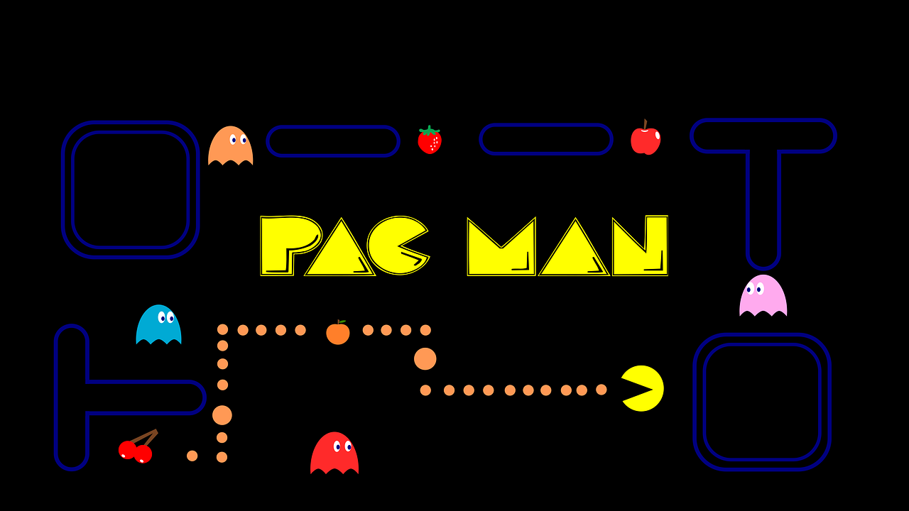 The names of the four ghosts in Pac-man are Blinky, Pinky, Inky and Clyde.
