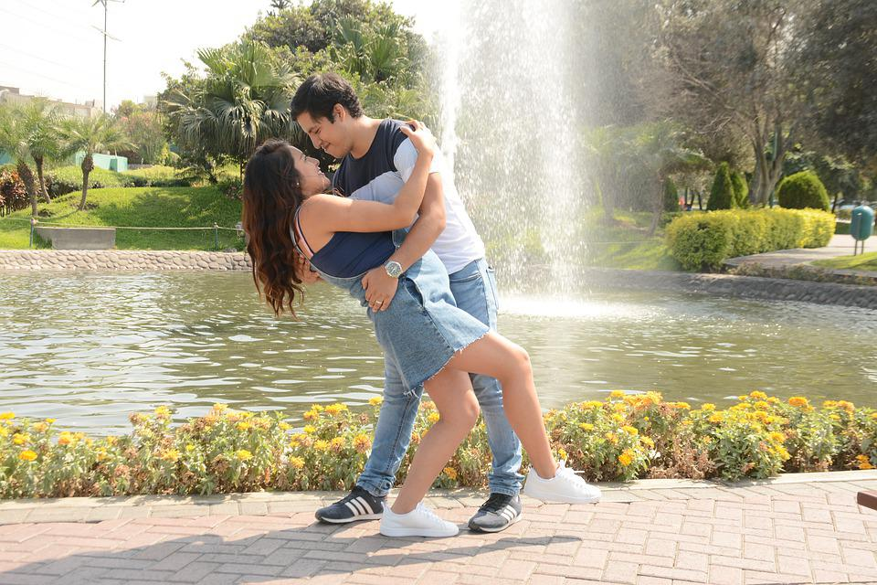 Kiss, Park, Couple, Love, Romance, Romantic, People