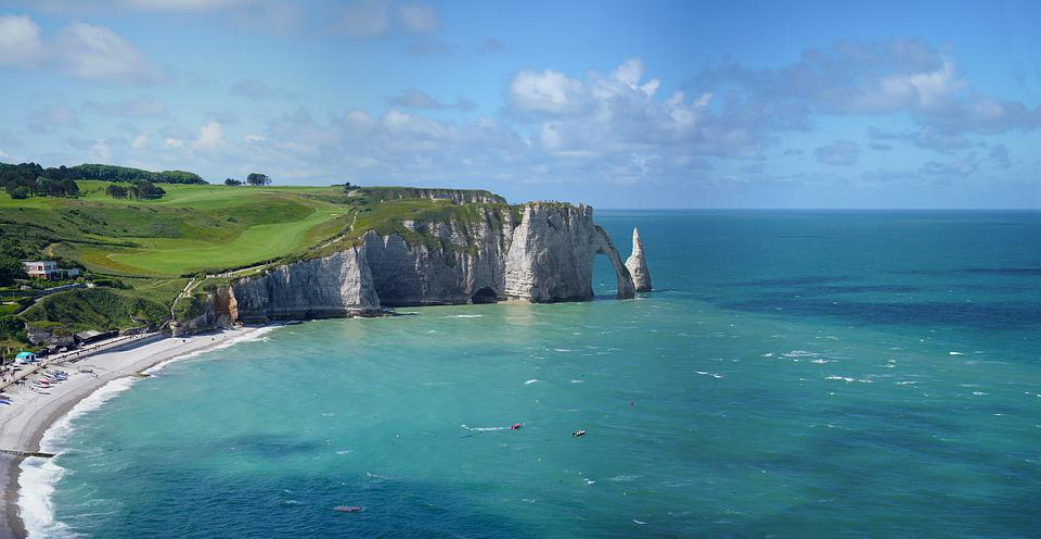 Frankrijk, Normandie, Etretat, Kliffen, Kust, Rotsen