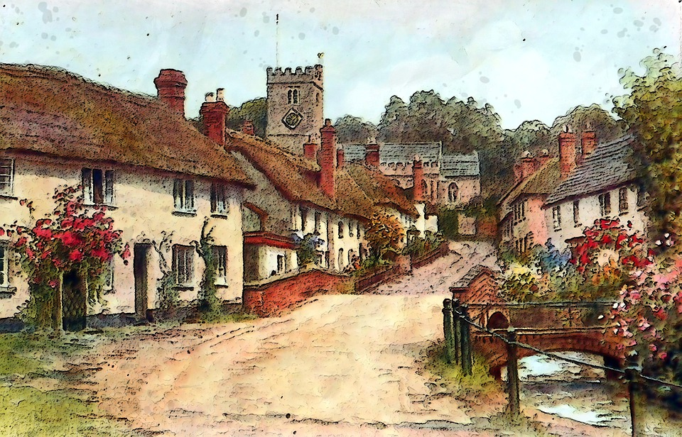 East Budleigh, Devon, Uk, Vintage, Old, Classic, Paint