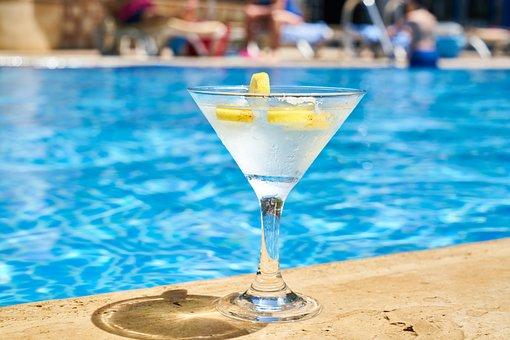 飲み物, カクテル, 飲料, 夏, 休日, 救済, ホテル, 贅沢, ガラス