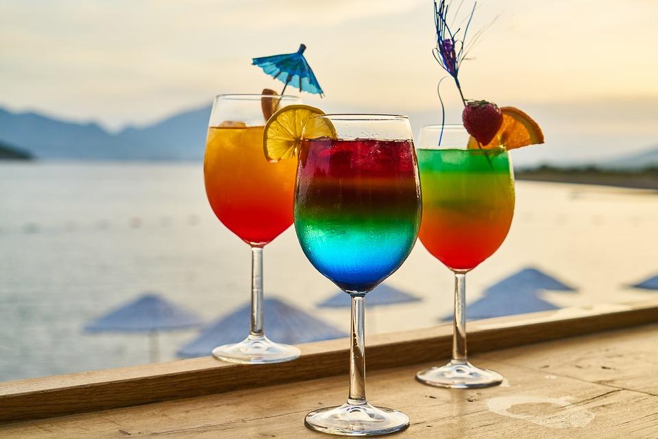 Nápoj, koktejl, nápoj, léto, dovolená, úleva