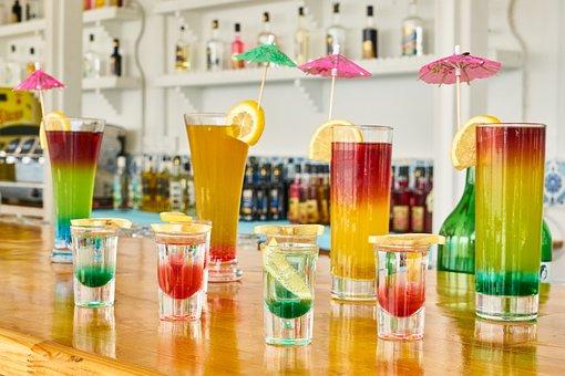 飲み物, カクテル, 色, バー, 祝賀会, レモン, グリーン, 爽やかな