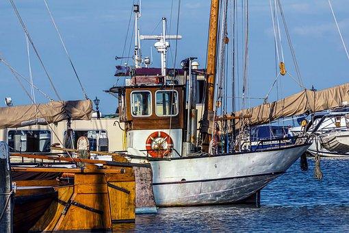 Port, Ships, Fishing Boat, Sea, Sky