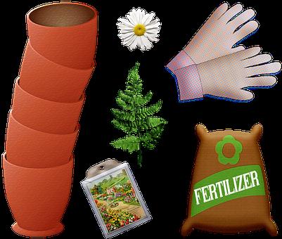 Garden Pot, Fertilizer, Seeds