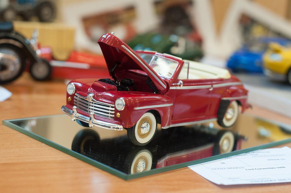 Model Car, Model, Classic, Oldsmobile, Car, Red, Toy