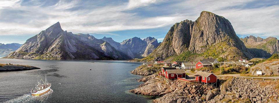Lofoten, Landskapet, Norge, Natur, Fjell, Fjorden