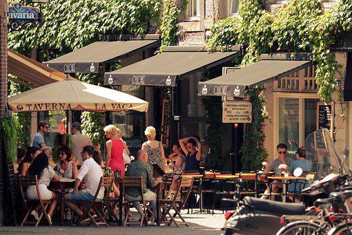 City, Street Cafe, Gastronomy