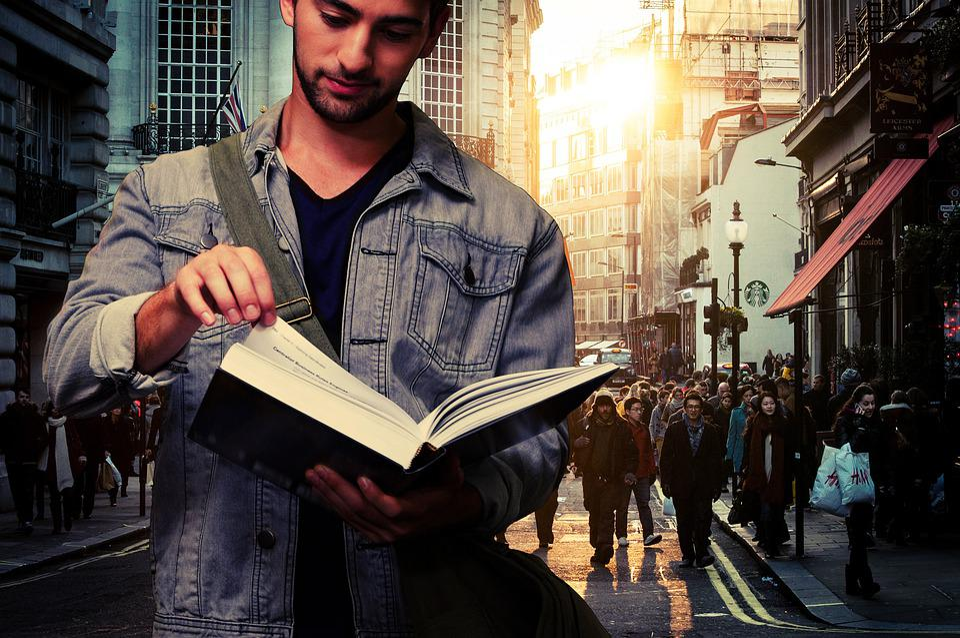 Man Student Read Book Free Photo On Pixabay