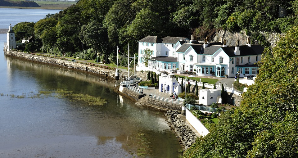 Portmerion, Wales, Harbour, Sea, Hotel, Holiday