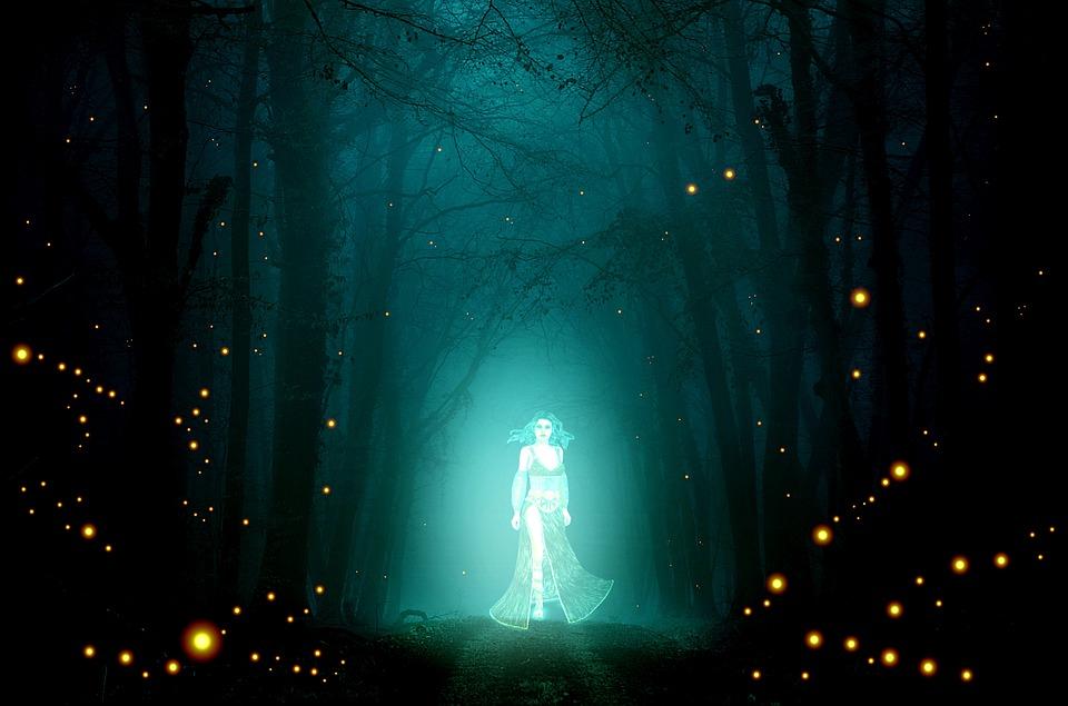 Ghost, Spectrum, Spirit, Priestess, Maga, Forest