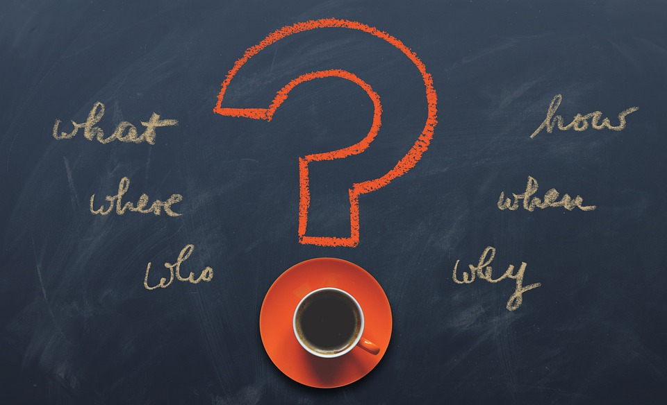 質問, 疑問符, 書きます, ブログ, 誰, 何, どのように, なぜ, どこ, ボード, 通信手段