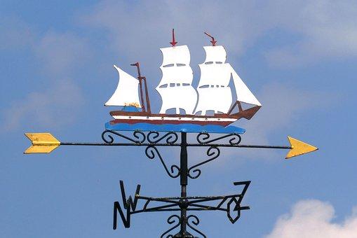 天候ベーン, 空気, 屋外, 煙突, 風ベーン, 帆船, 風