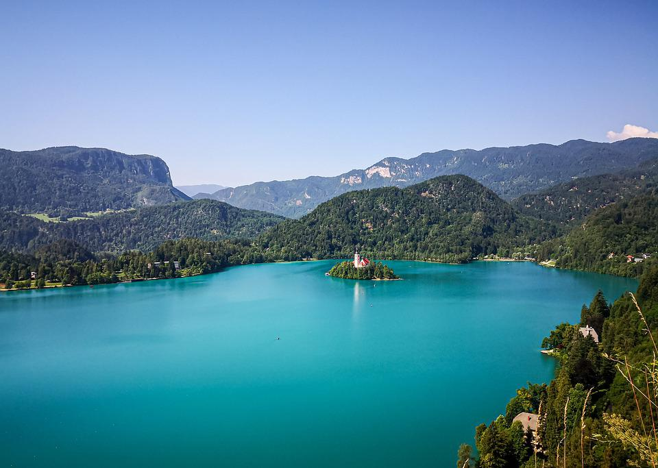 Lake Bled, Slovenia, Water, Nature