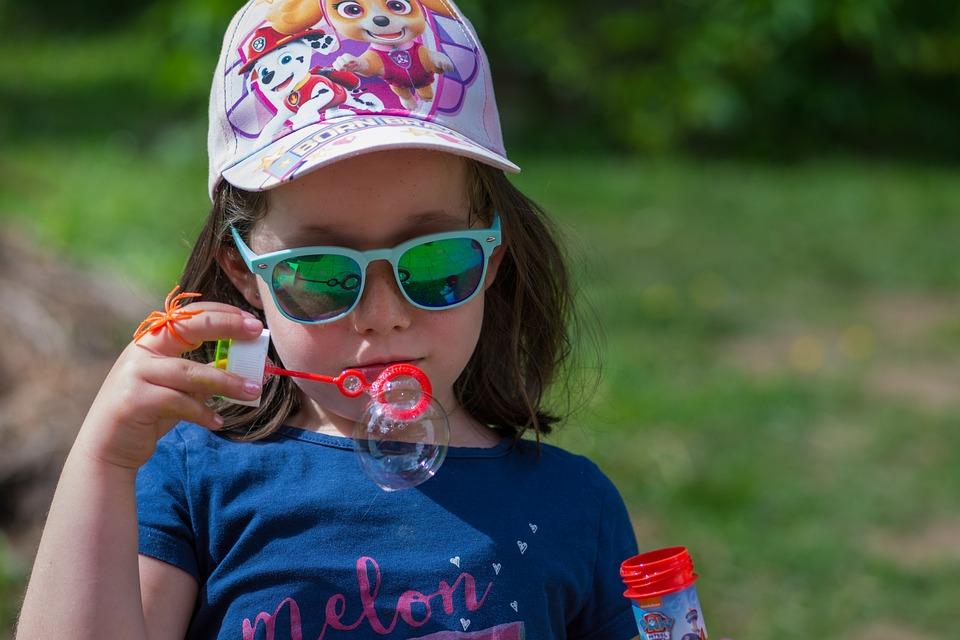 Bolla Di Sapone, Bambino, Ragazza, Occhiali Da Sole
