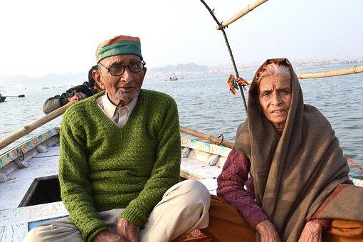 古い, カップル, 高齢者, 人, 愛, 退職, 祖父母, 女性, 男, 一緒に