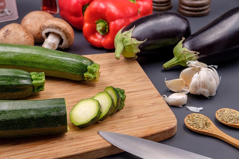 Zöldség, Vegán, Vegetáriánus, Cukkini, Fokhagyma