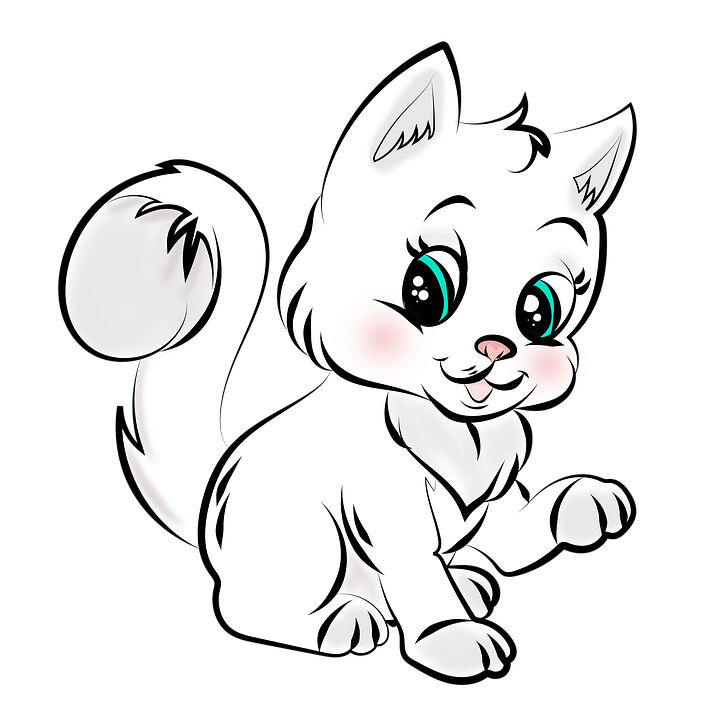 Desenho Gato Cor Imagens Gratis No Pixabay