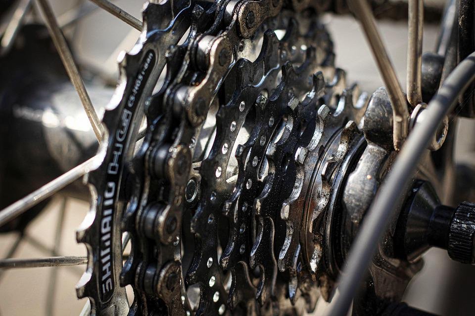 Bike, Bicycle Chain, Gear, Spokes, Wheel, Rustic, Dirty