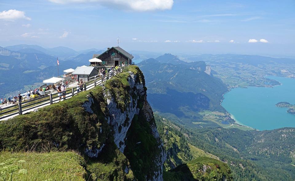 샤프베르크, 오스트리아, 몬, 산, 경치, 더 많은, 자연, 잘츠카머구트, 전망, 비스타, 파노라마