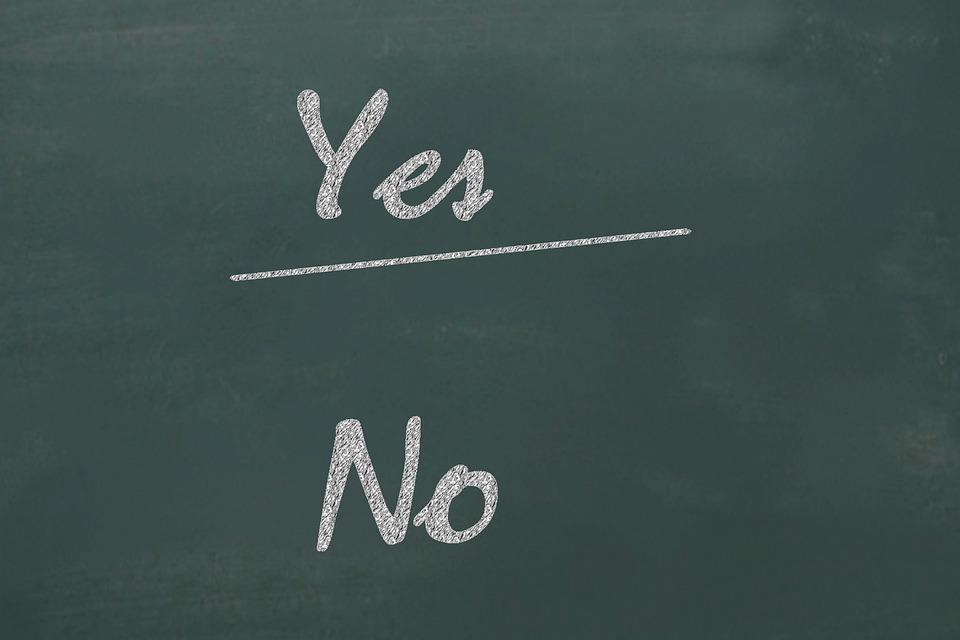 はい, いいえ, チェックリスト, 選択, 同意, 意思決定, 機会, 代替, ボード