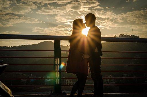 Sunny, Loves, Couple, Romantic, Sky, Sun