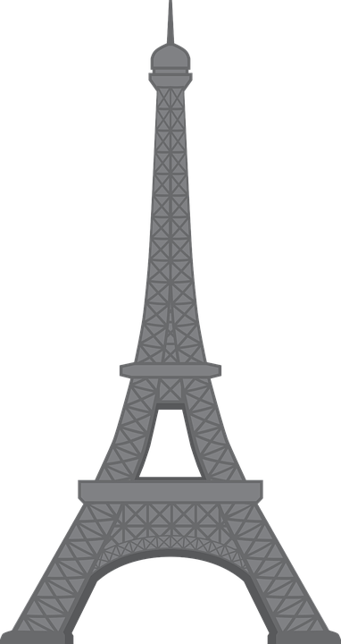 Eiffel Tower Cartoon Paris Free Vector Graphic On Pixabay