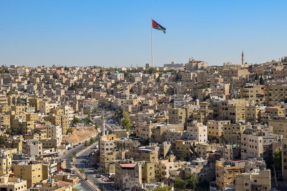 Amman, Jordania, City, Podróży, Architektura, Budynku