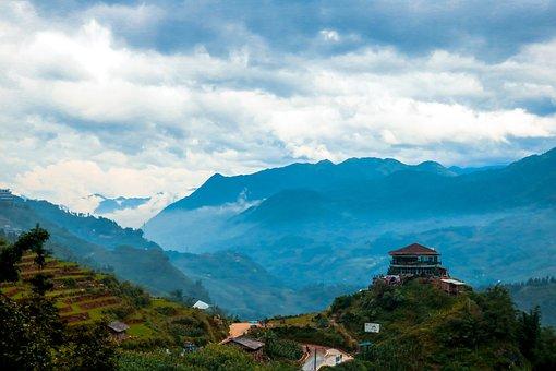 Sky, Sapa, Mountains, Landscape, Travel