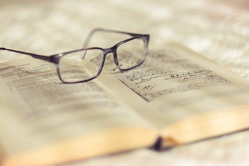 読書、メガネ、本、読書、教育、本、学校、ビジョン、研究