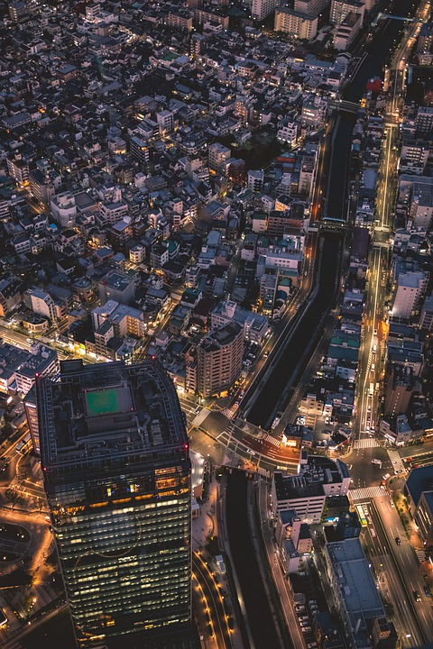 Skyline, Night, Big City, Metropolis, Tokyo, City