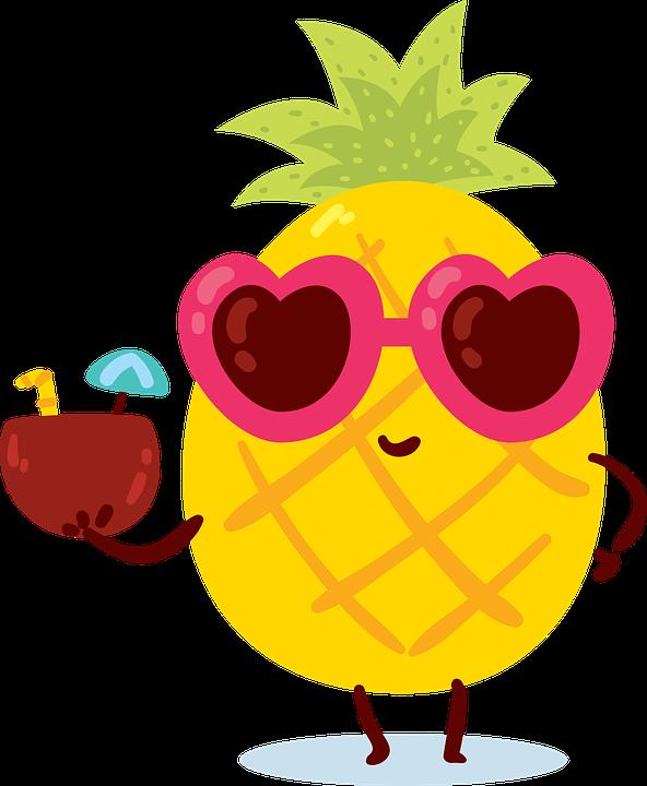 Estate, Ananas, Giallo, Mare