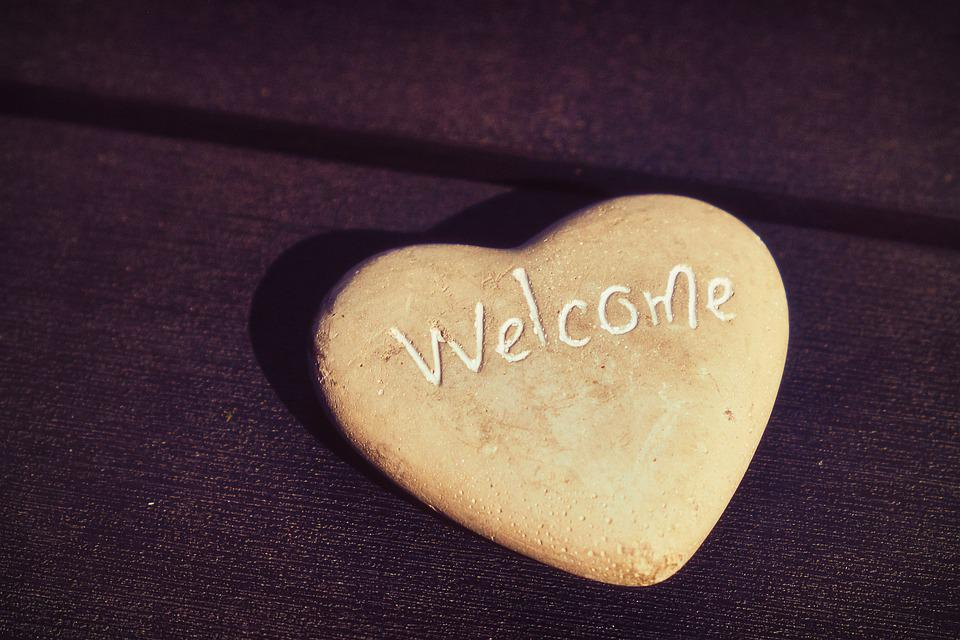 Herz, Willkommen, Welcome, Liebe, Gefühle, Glück