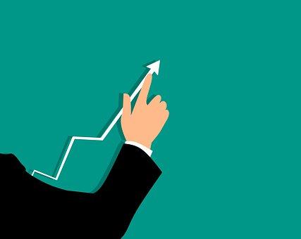 ターゲット, 解析, 利益, 矢印, 利益曲線, 実業家, 成功, 手
