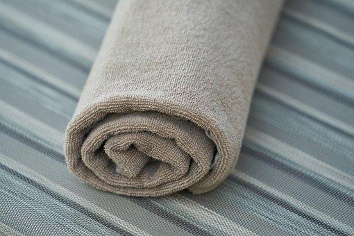 タオル, サンベッド, バスルーム, ウェット, 乾燥, しっとり