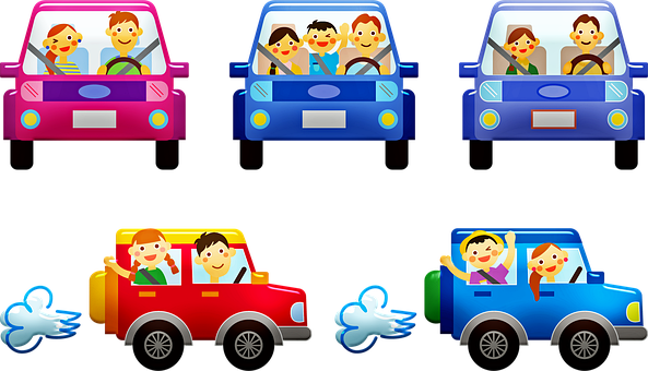 People In Cars, Family, Car, Automobile