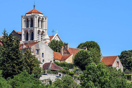 Vézelay, France, Église, Monastère, Tour
