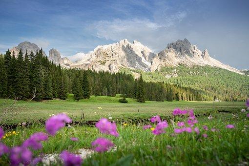 Alpine, Dolomites, Italy, Mountains
