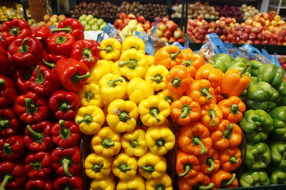 Sweet Pepper, Gule Sweet Pepper, Røde Sweet Pepper