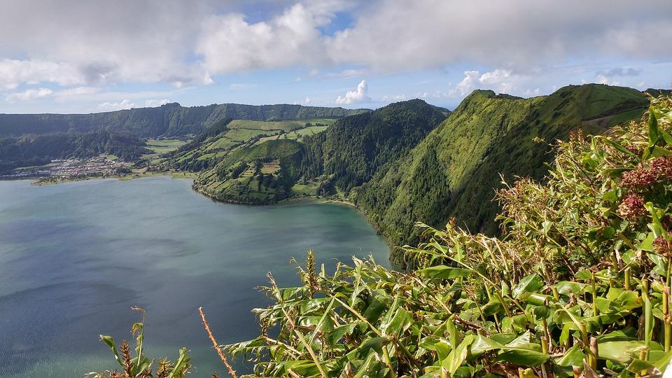 Azori Szigetek, Kráter Tó, Táj, Természet, Víz, Vulkán