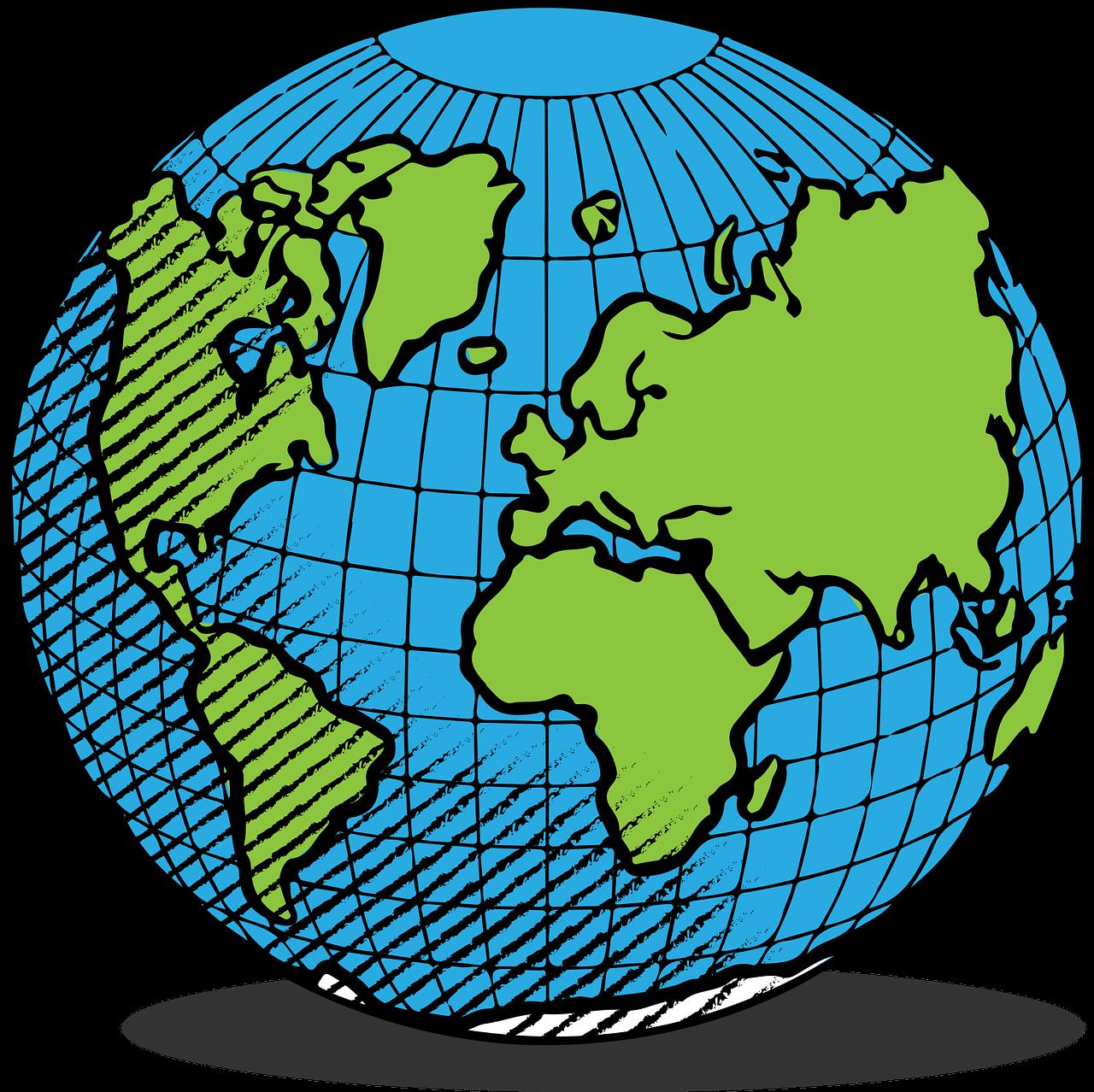 Země Zeměkoule Prostor - Vektorová grafika zdarma na Pixabay