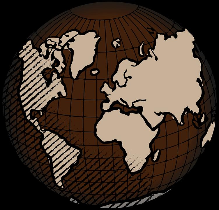 Zeměkoule Země Svět - Vektorová grafika zdarma na Pixabay