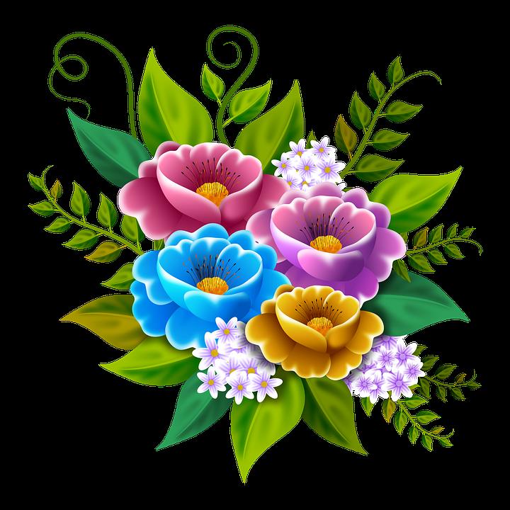 Bloemen Illustratie Boeket - Gratis afbeelding op Pixabay