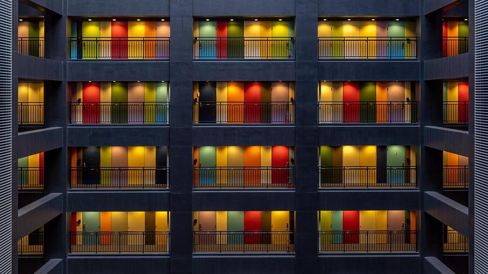アパート メンツ, ドア, 色, 東京, 日本, 家, インテリア, 建物
