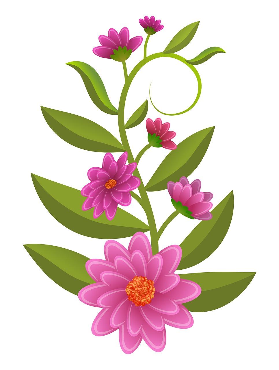 Bunga Ilustrasi Buket Gambar Gratis Di Pixabay