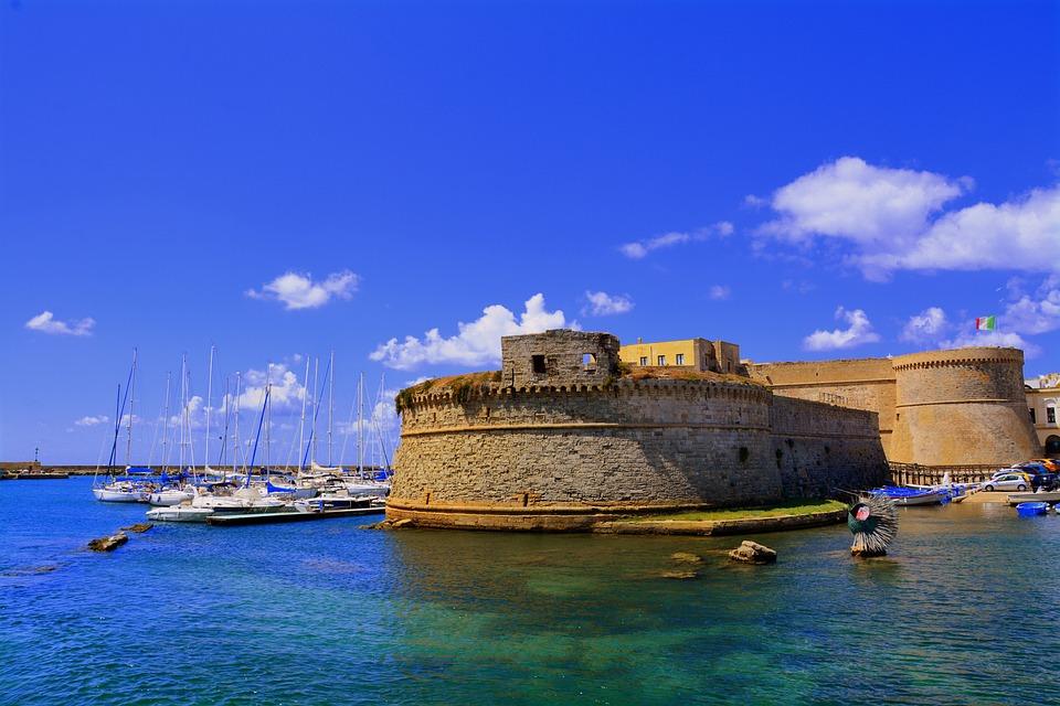 Castello, Puglia, Salento, Gallipoli, Mare, Acqua