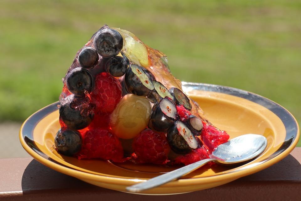 Dessert, Gustoso, Sano, Colorato, Gelatina, Frutta