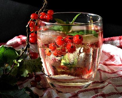 Johannisbeeren, Obst, Beeren, Wasser